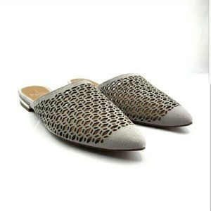 Linea Paolo Pointed Toe Suede Perforated Mule NEW